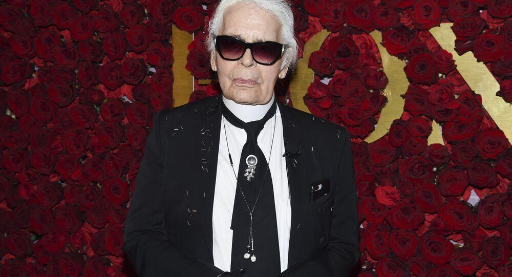 Niemiecki projektant Karl Lagerfeld