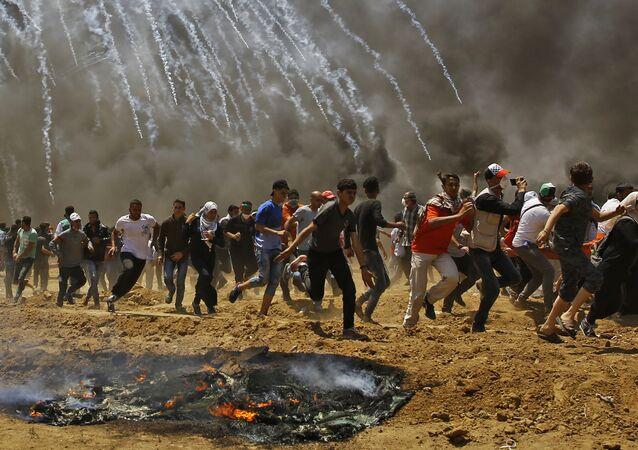Zamieszki w Strefie Gazy, Palestyna