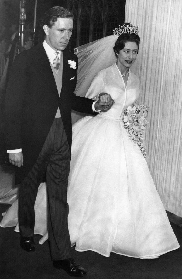 Młodsza siostra królowej Elżbiety II - księżniczka Małgorzata z mężem - Sputnik Polska