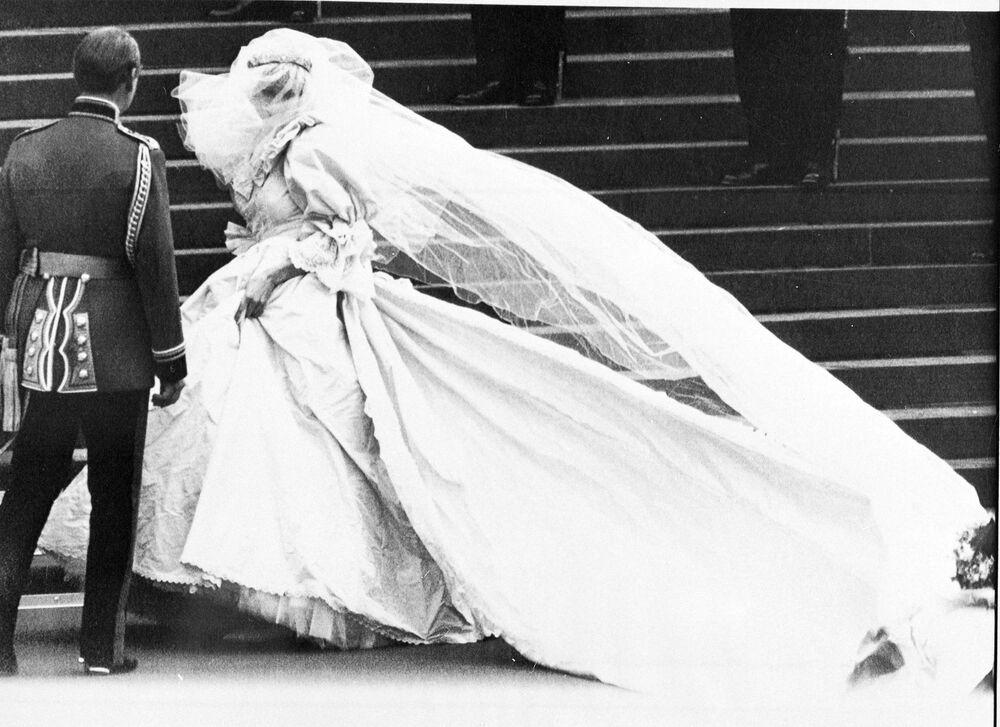 Księżna Diana w dniu ślubu