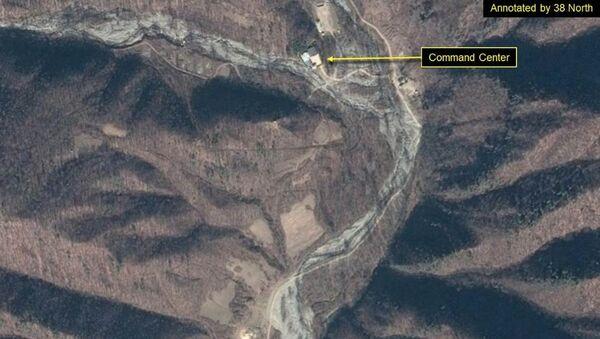Zdjęcie satelitarne poligonu jądrowego Punggye-ri w Korei Północnej - Sputnik Polska