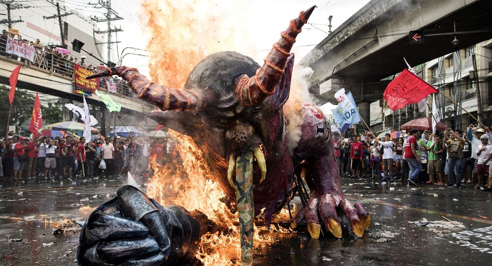 Demonstracje na Filipinach