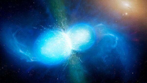 Zlanie się gwiazd neutronowych - Sputnik Polska