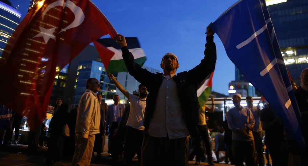 Protesty w Stambule przeciwko otwarciu ambasady USA w Jerozolimie