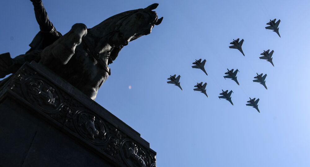 Próba parady Zwycięstwa, Su-30 i Su-35