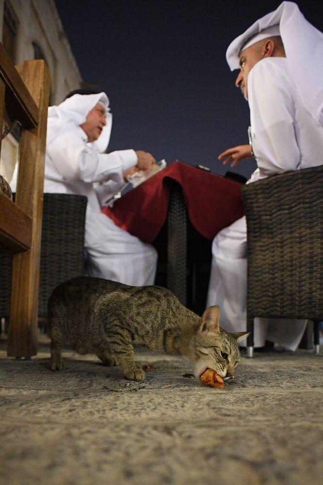 Na targowisku Souq Waqif w Doha, Katar