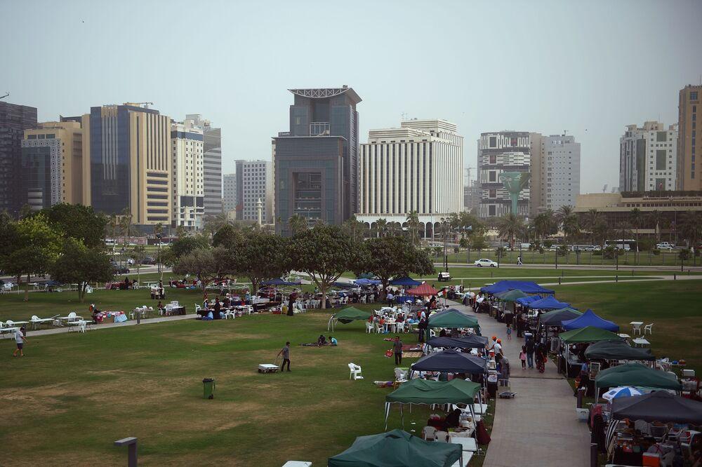 Targowisko obok Muzeum Sztuki Islamskiej w Doha