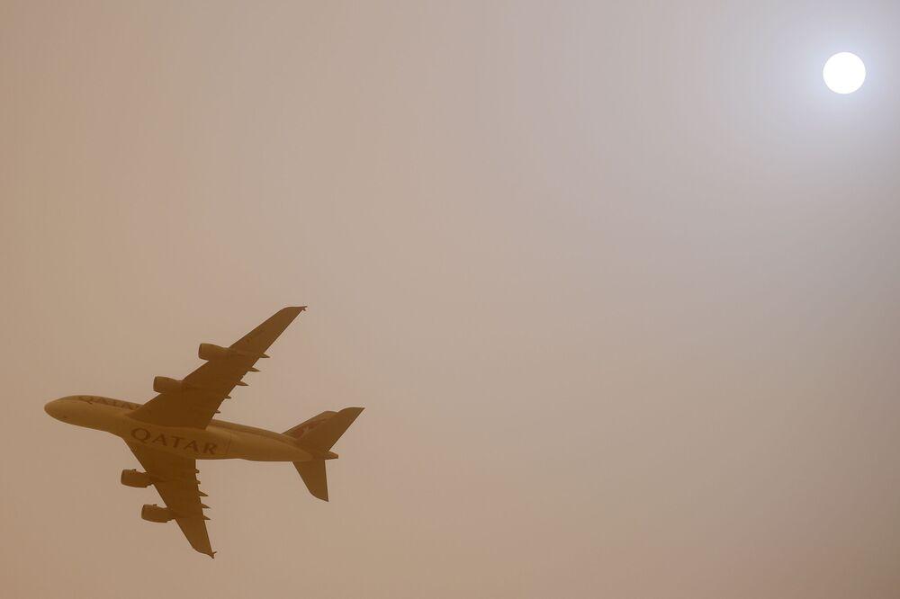 Samolot linii lotniczych Qatar