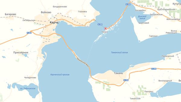 Zrzut ekranu mapy serwisu Google Maps, gdzie pojawił się Most Krymski - Sputnik Polska