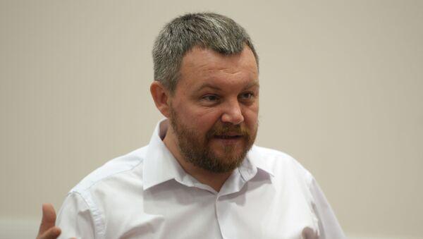 Wicepremier DRL Andriej Purgin podczas konferencji prasowej - Sputnik Polska