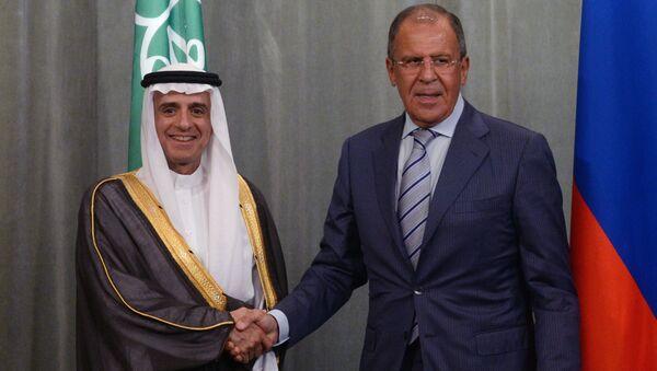 Minister spraw zagranicznych FR Siergiej Ławrow i minister spraw zagranicznych Arabii Saudyjskiej Adel bin Ahmed Al-Jubeir - Sputnik Polska