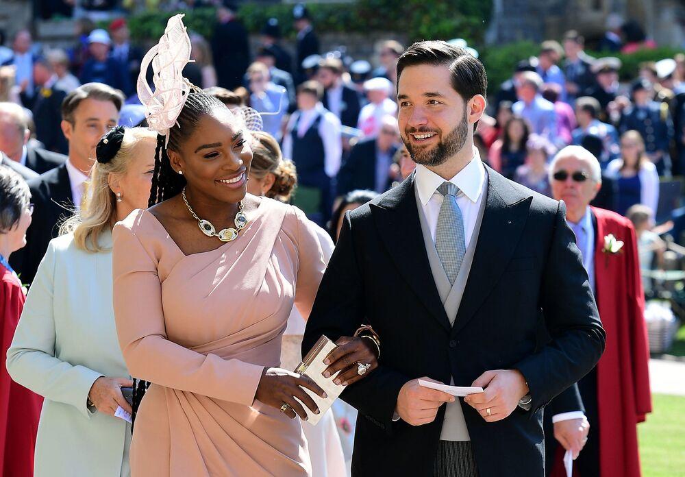Serena Williams z mężem Aleksisem Oganianem