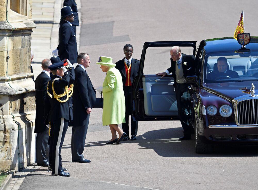 Królowa Elżbieta II z mężem księciem Filipem