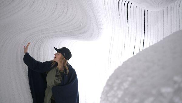 Jaskinia lodowa w parku Zarjadje - Sputnik Polska