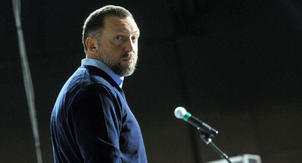 """Prezes zarządu, dyrektor generalny firmy """"Rusal"""" i prezes En + Group Oleg Deripaska"""