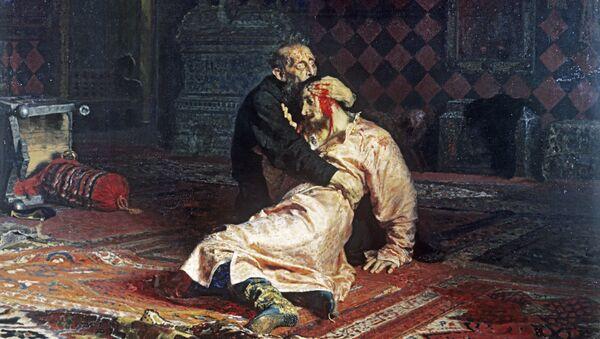 Obraz Ilji Riepina Car Iwan Groźny i jego syn Iwan 16 listopada 1581 roku - Sputnik Polska