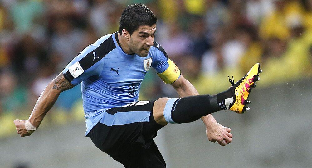 Urugwajski piłkarz Luis Alberto Suárez