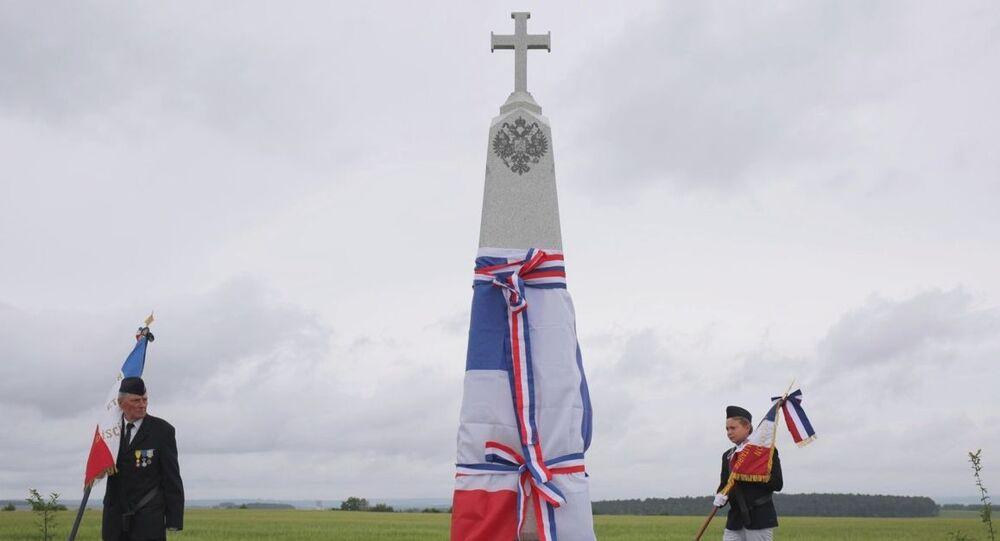 Odsłonięcie obeliska upamiętniającego Rosyjski Korpus Ekspedycyjny we Francji