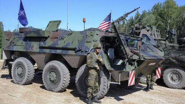 Amerykańscy żołnierze na manewrach Saber Strike w Estonii. Zdjęcie archiwalne - Sputnik Polska