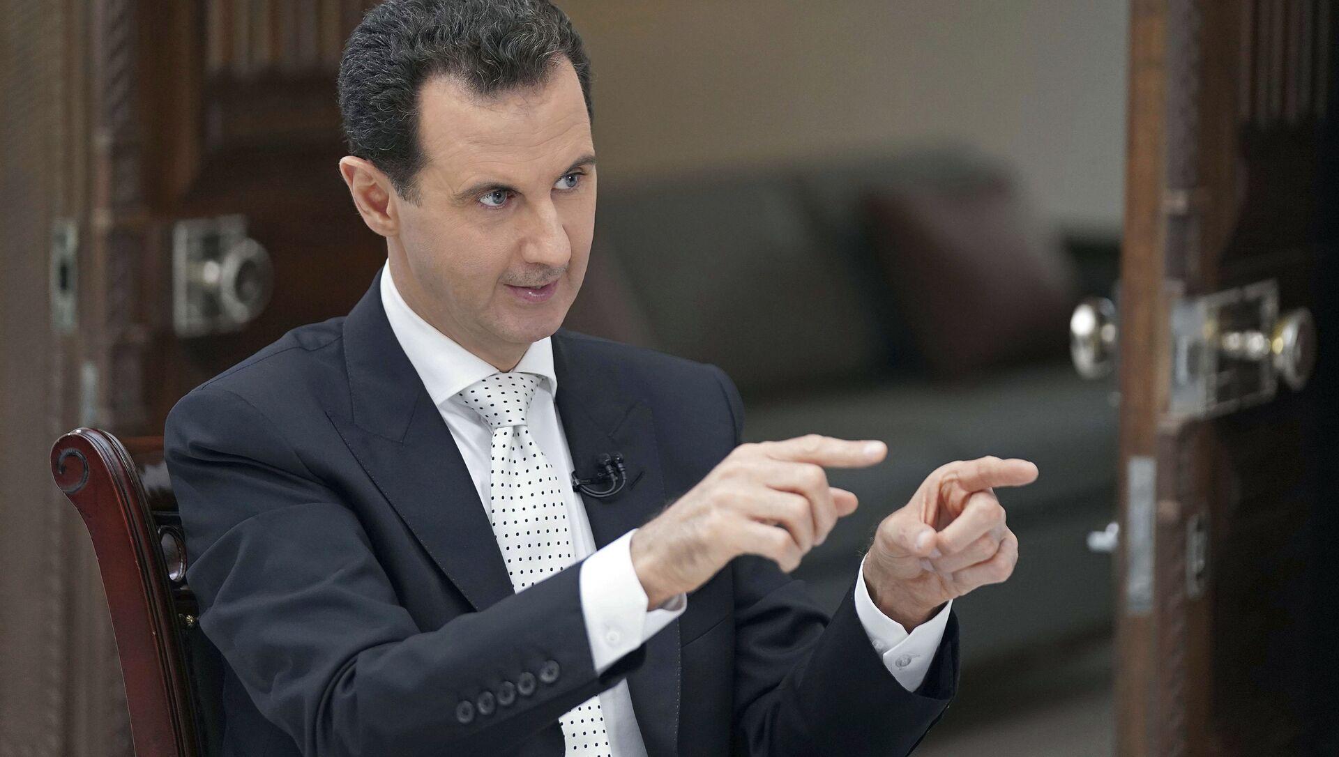 Prezydent Syrii Baszar Asad podczas wywiadu - Sputnik Polska, 1920, 27.05.2021