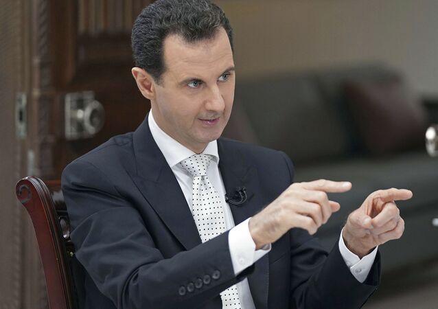 Prezydent Syrii Baszar Asad podczas wywiadu