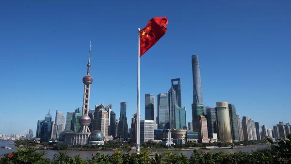 Dzielnica Pudong w Szanghaju w Chinach - Sputnik Polska