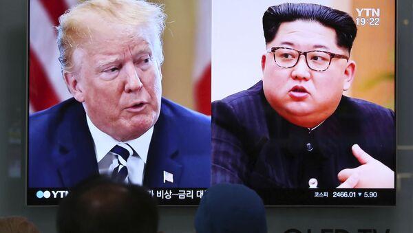 Donald Trump i Kim Dzong Un - Sputnik Polska