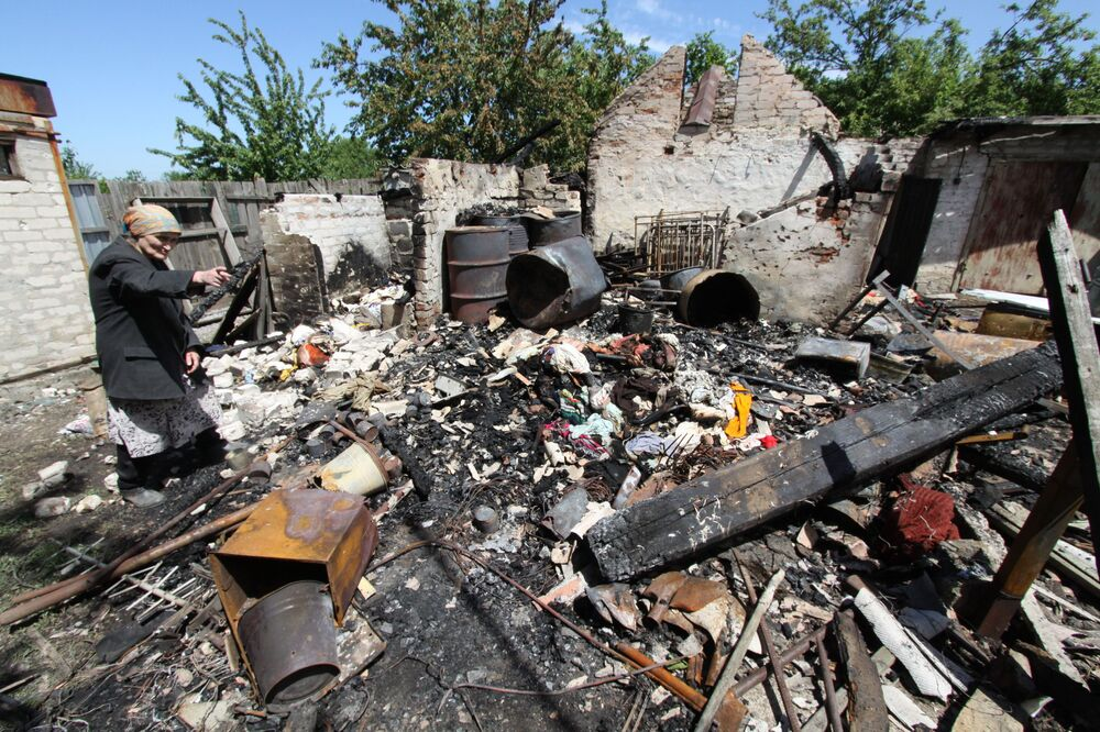 Wyniki ostrzału w Dokuczajewsku