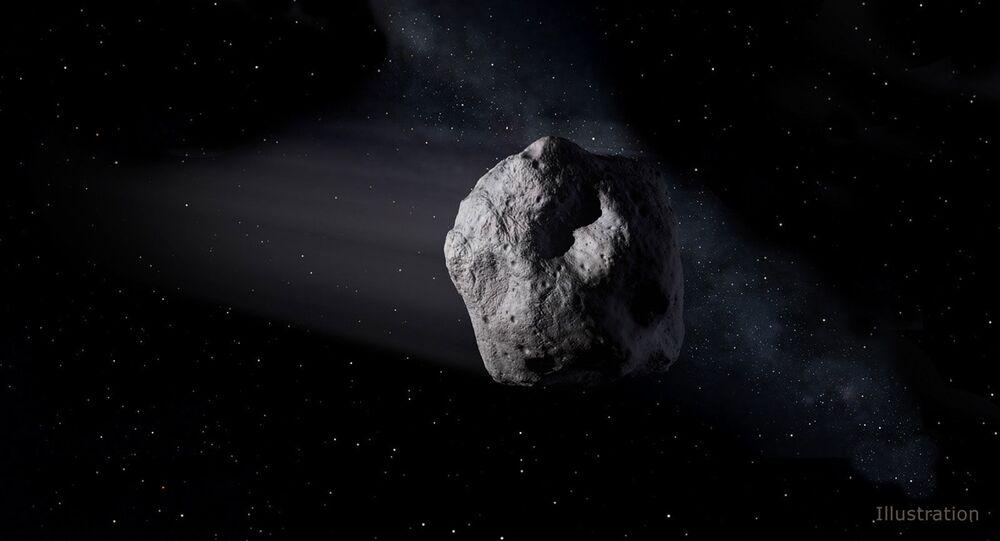 Artystyczne wyobrażenie asteroidy okołoziemskiej