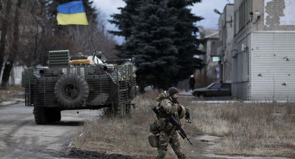 Ukraińscy wojskowi w obwodzie donieckim. Zdjęcie archiwalne