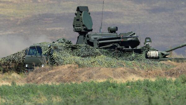 Zestaw przeciwlotniczy Pancyr-S1 na poligonie Kadamowski w obwodzie rostowskim - Sputnik Polska