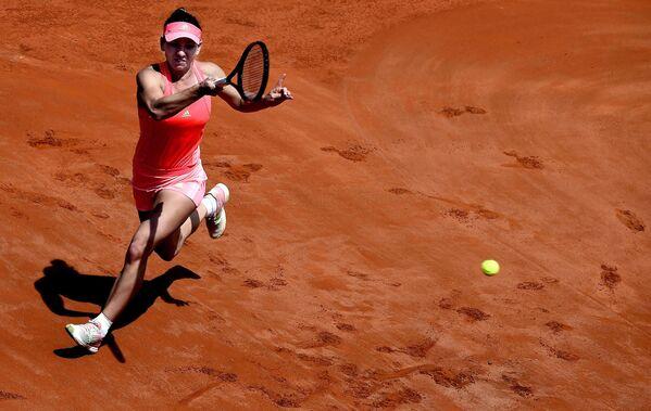 Rumuńska tenisistka simona halep na zawodach tenisa we Włoszech - Sputnik Polska