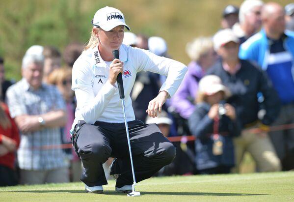 Amerykańska golfistka Stacy Lewis podczas turnieju w Anglii - Sputnik Polska