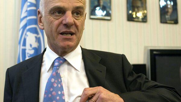Specjalny wysłannik sekretarza generalnego ONZ do walki z wirusem Ebola David Nabarro - Sputnik Polska