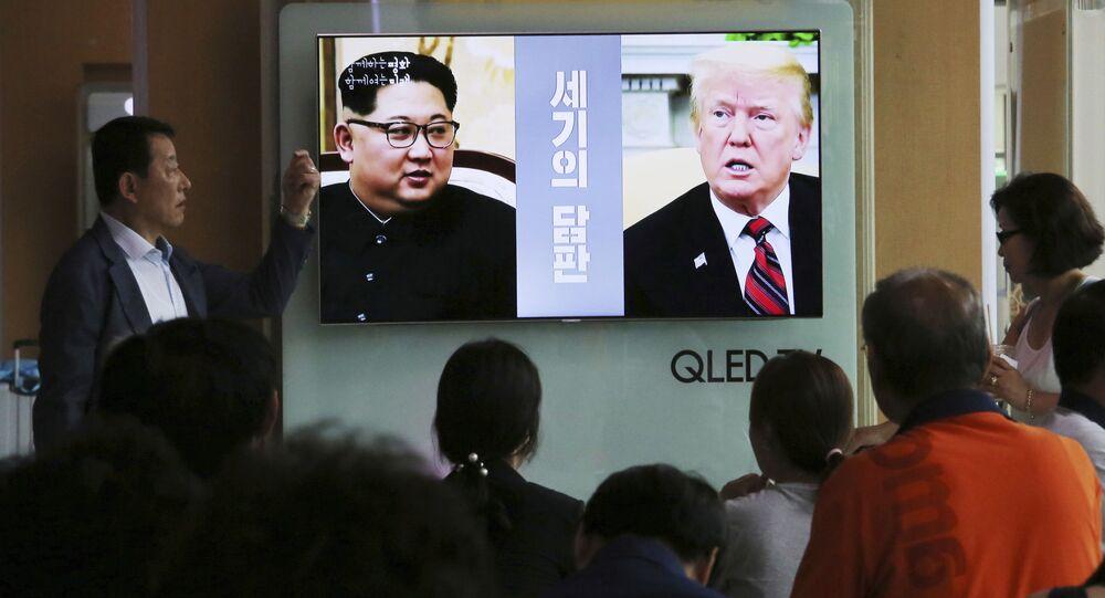 Spotkanie prezydenta USA Donalda Trumpa z północnokoreańskim przywódcą Kim Dzong Unem odbędzie się na wyspie Sentosa w Singapurze