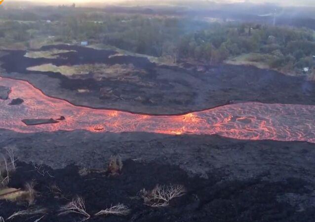 Hawaje. Lawa z wulkanu