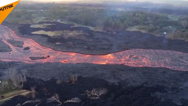 Hawaje. Lawa z wulkanu - Sputnik Polska