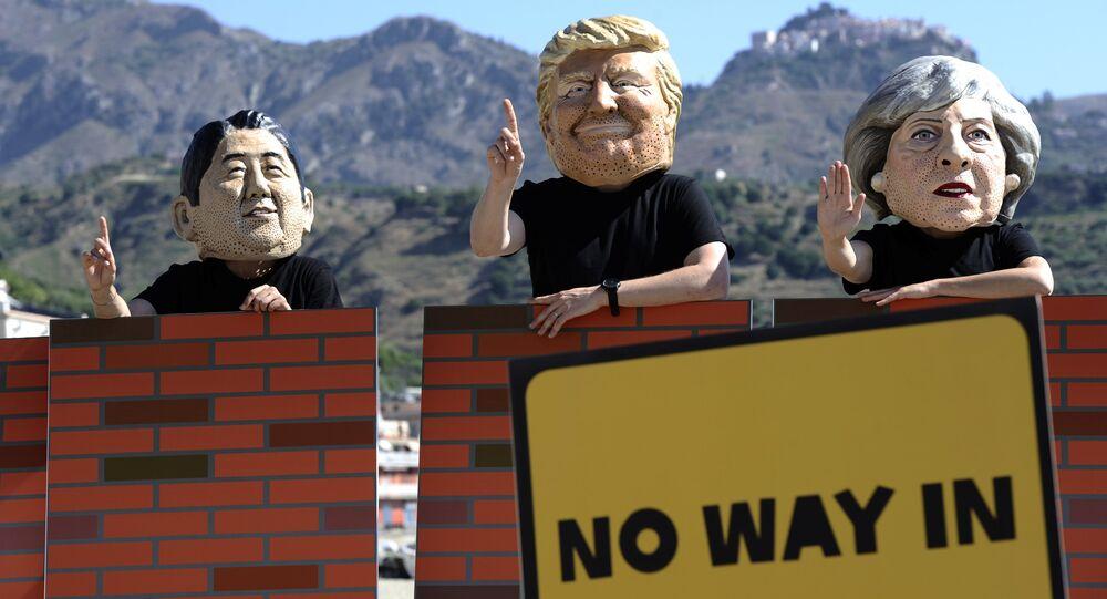 Protesty przeciwko spotkaniu państw G7