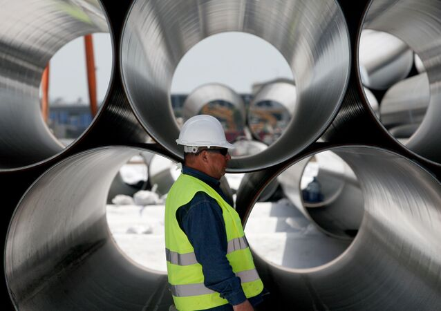 Rury przeznaczone do budowy Gazociągu Transatlantyckiego