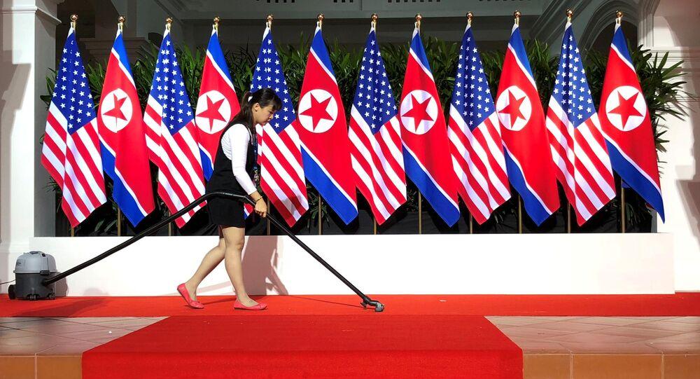 Sprzątanie przed rozpoczęciem szczytu KRLD i USA