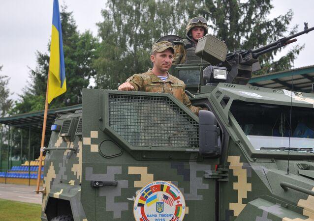 Ukraiński czołg w czasie Międzynarodowych Ćwiczeń Wojskowych Rapid tridetn-2016