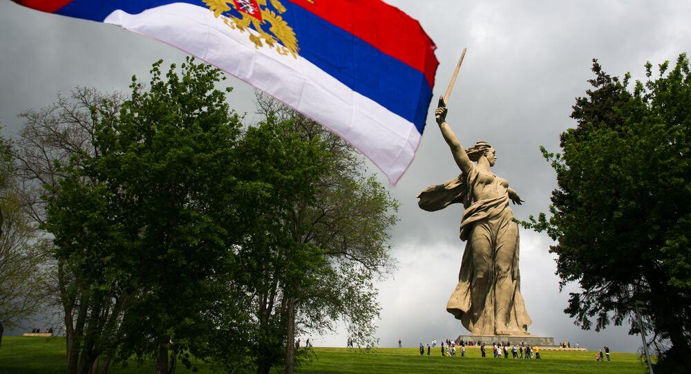 Wołgograd, pomnik Matka Ojczyzna wzywa!