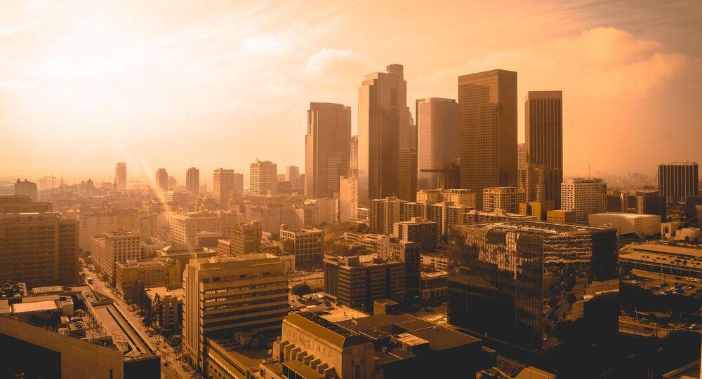 Widok na Los Angeles w USA