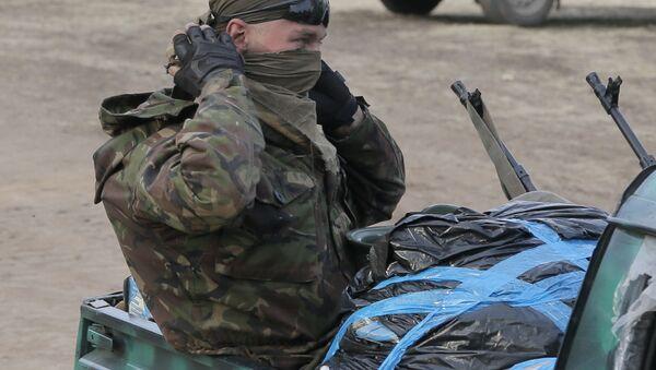Żołnierz Ukrainy w Donbasie - Sputnik Polska