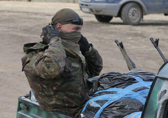 Żołnierz Ukrainy w Donbasie