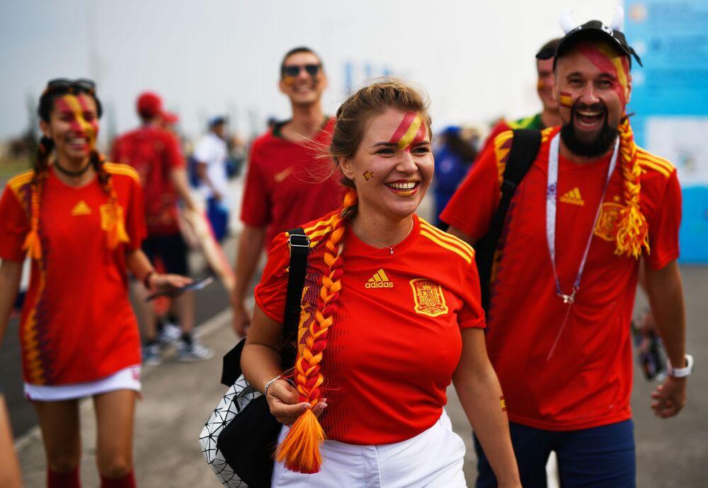 Kibice reprezentacji Hiszpanii