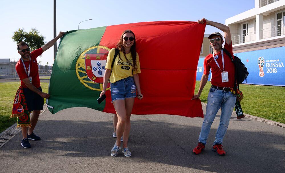 Kibice z Portugalii