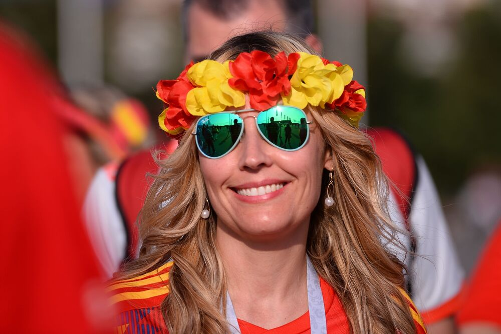 Hiszpańska kibicka na MŚ 2018