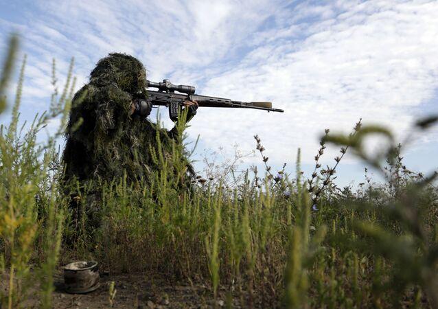 W Donbasie pojawił się oddział ukraińskich snajperów