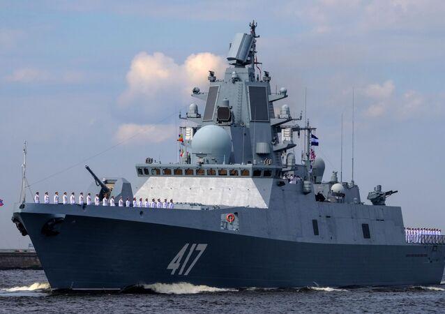 """Fregata """"Admirał Gorszkow"""" w Kronsztadzie"""